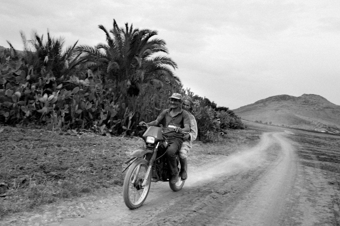 A street scene in the on the outskirts of jenoduba. Jendouba, 2013. Tunisia.